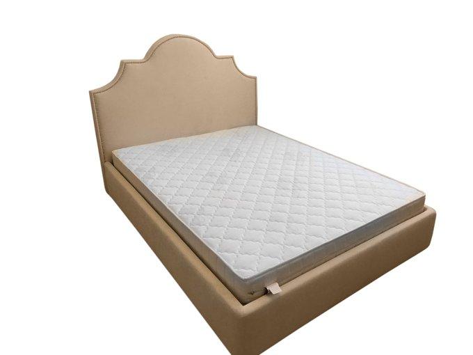 Кровать Фиби светло-коричневого цвета 140х200 с ящиком для хранения