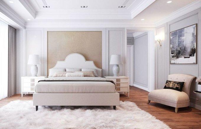 Кровать Бриэль 160х200 бежевого цвета  с подъемным механизмом