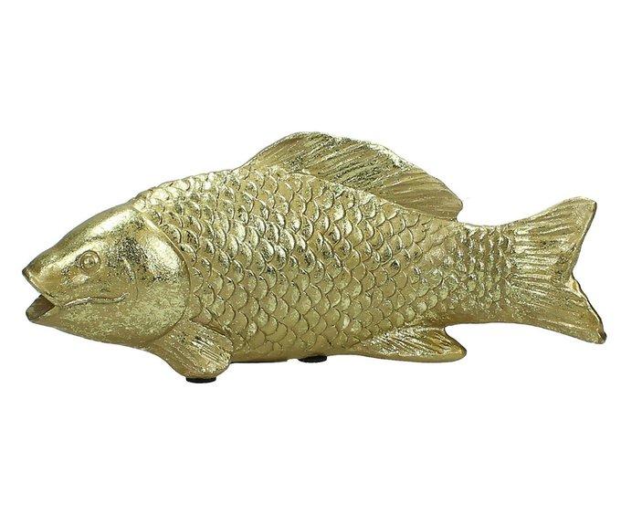 Набор из двух статуэток рыб золотого цвета