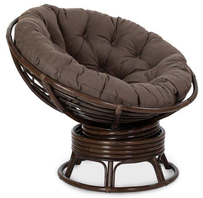 Кресло механическое Papasan темно-коричневого цвета