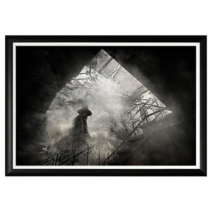 Арт-постер Призрак в черном багете
