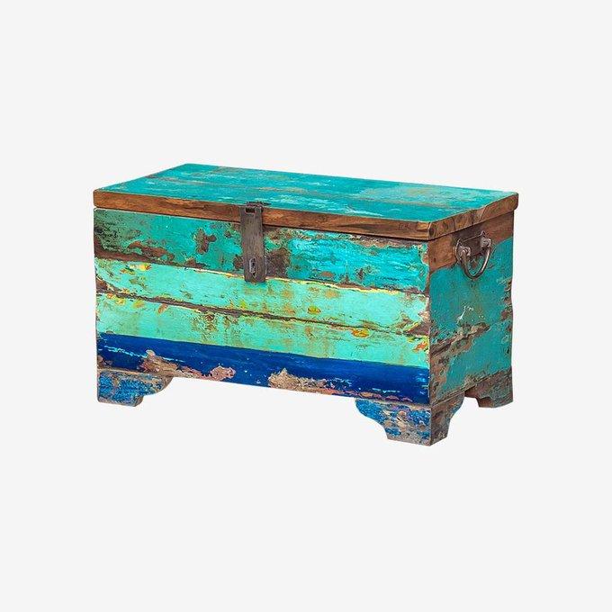 Сундук Гала бирюзово-голубого цвета