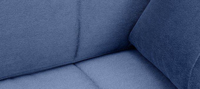 П-образный угловой диван-кровать Дудинка Galaxy  синего цвета