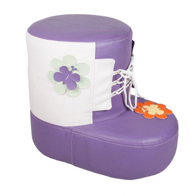 Детский Пуф Башмачок фиолетовый