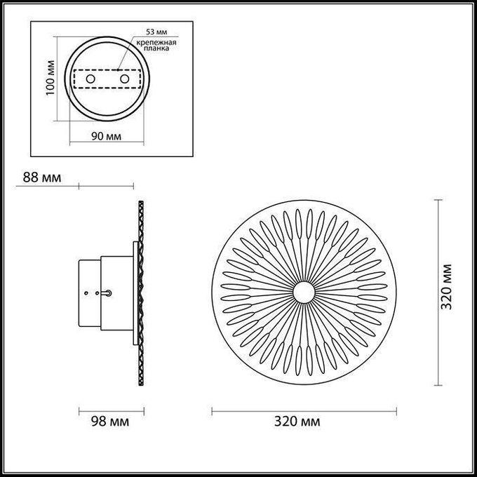 Настенный светодиодный светильник Astra