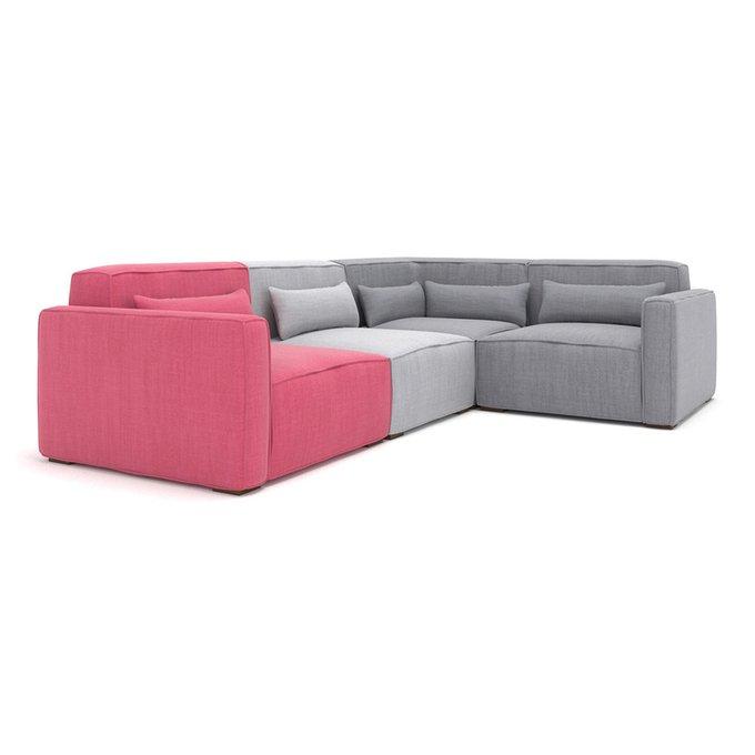 Модульный угловой диван Cubus MIX серо-розового цвета