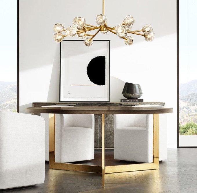 Подвесная люстра Boule de cristal с плафонами из стекла
