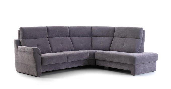 Угловой диван Ares серо-синего цвета