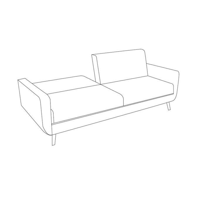 Диван-кровать Криспи бежевого цвета