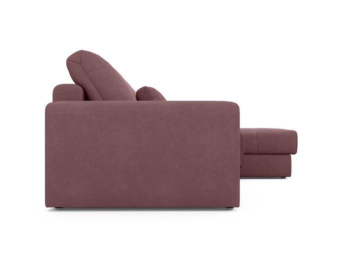Угловой диван-кровать Ruiz темно-розового цвета
