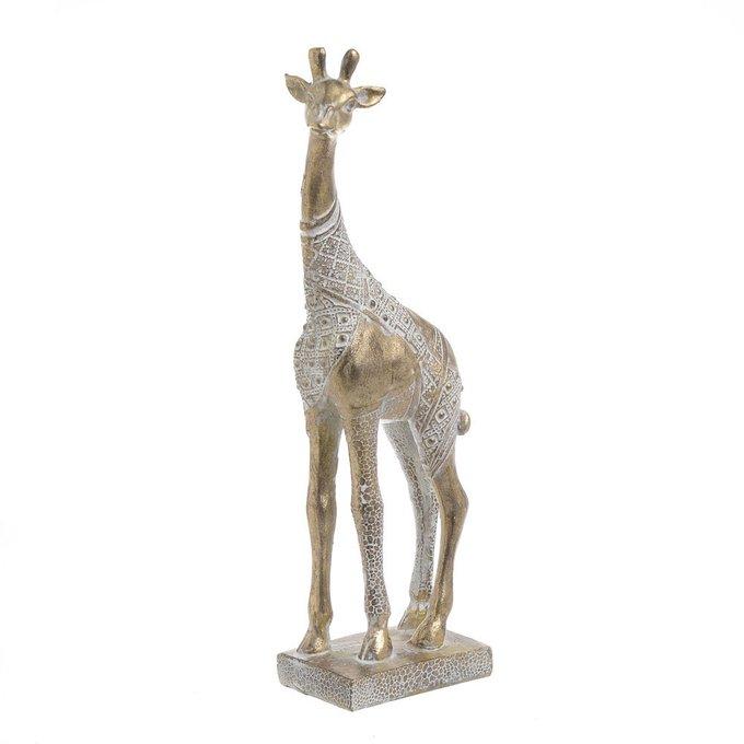 Статуэтка жирафа золотого цвета