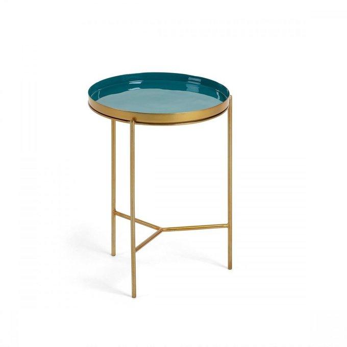 Журнальный стол Naoko из металла зеленого цвета