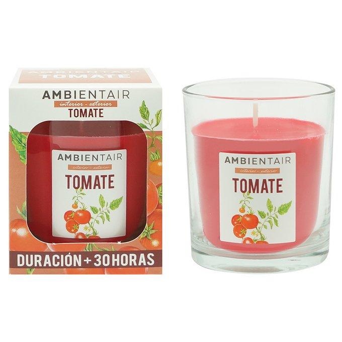 Свеча ароматическая Томатный лист Garden красного цвета