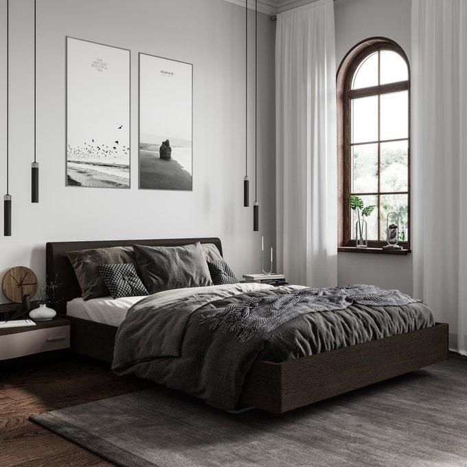 Кровать Элеонора 140х200 черного цвета