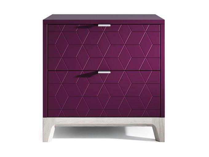 Прикроватная тумба Case фиолетового цвета