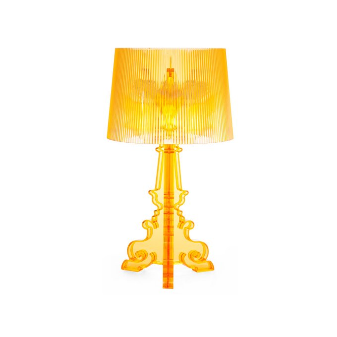 Лампа настольная Bourgie желтого цвета