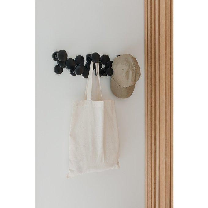 Вешалка настенная Bubble Hook черного цвета