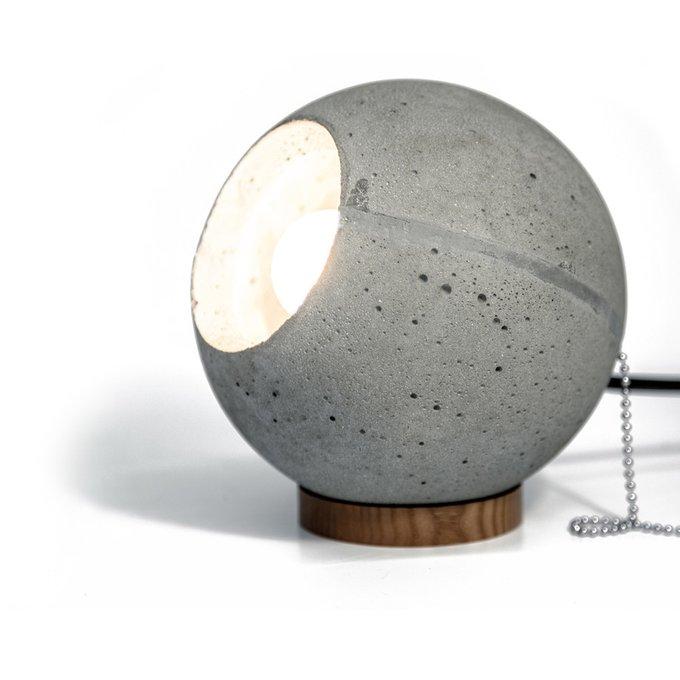 Настольный светильник Loona серого цвета