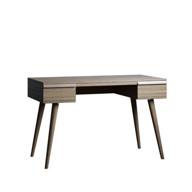 Письменный стол Lina table 120х80 с ящиками цвета пепельный орех