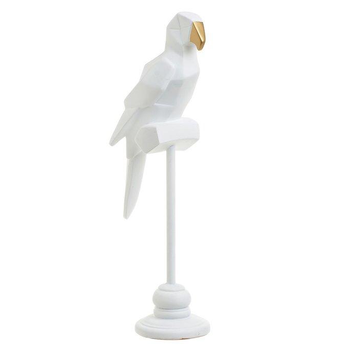 Статуэтка Попугай белого цвета