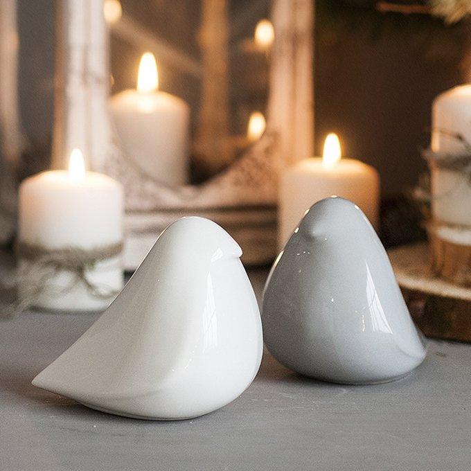 Статуэтка Birdie из белой керамики