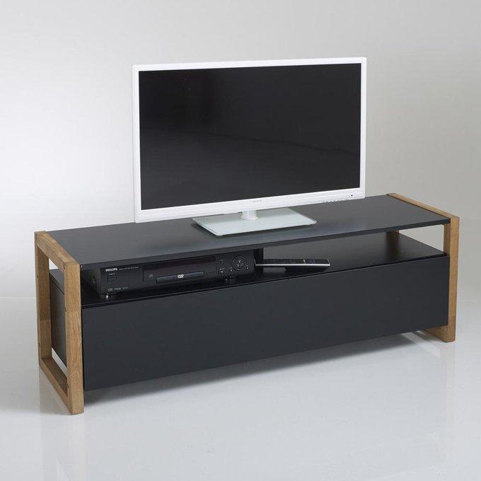 ТВ-тумба Compo черного цвета с откидной крышкой