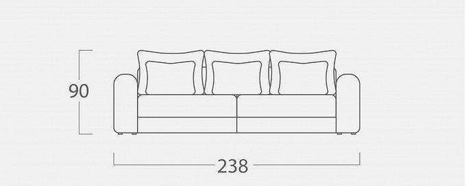 Диван-кровать Мэдисон Лувр серого цвета
