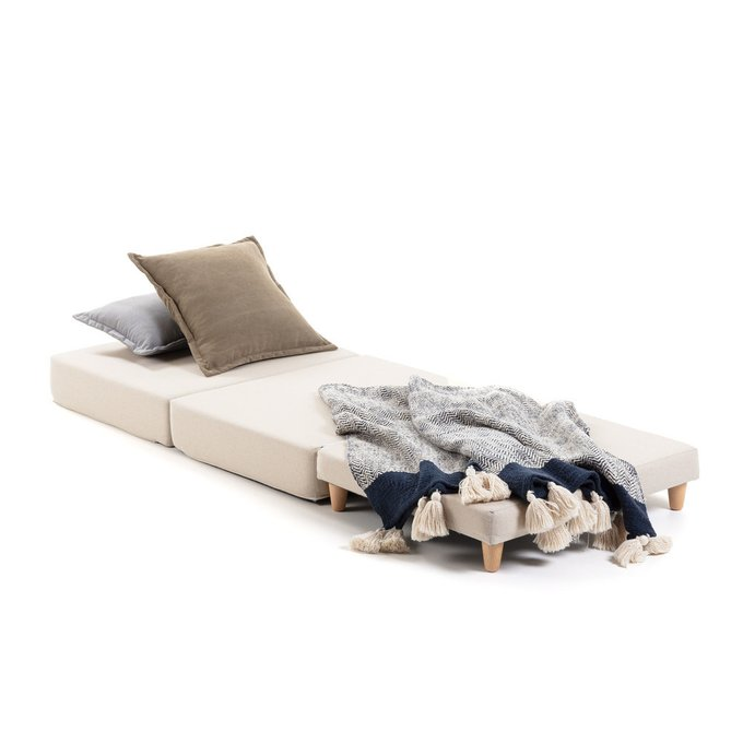 Пуф-кровать Lizzie синего цвета