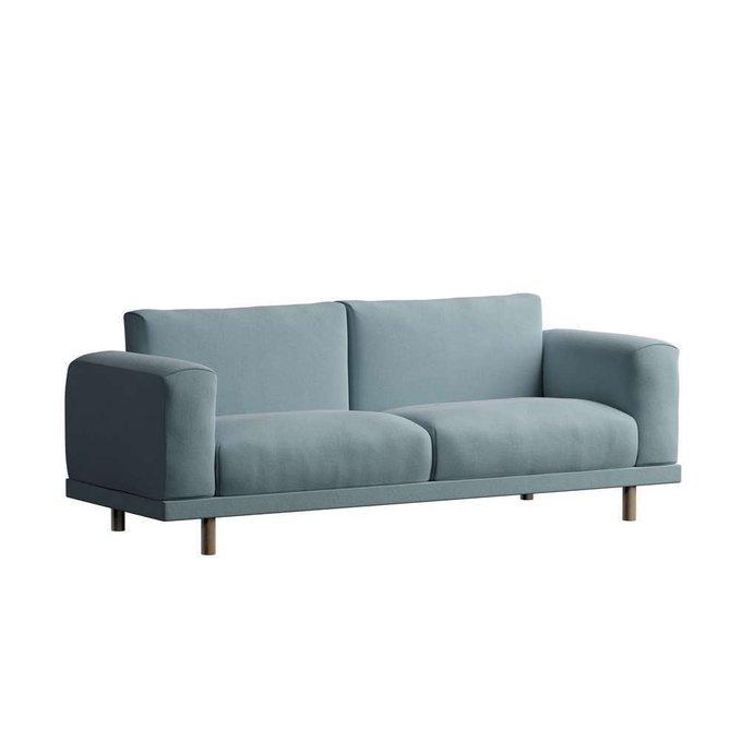 Трехместный диван Malmo голубого цвета