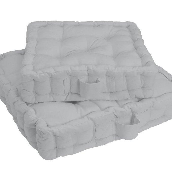Напольная подушка Scenario светло-серого цвета 38x38x10