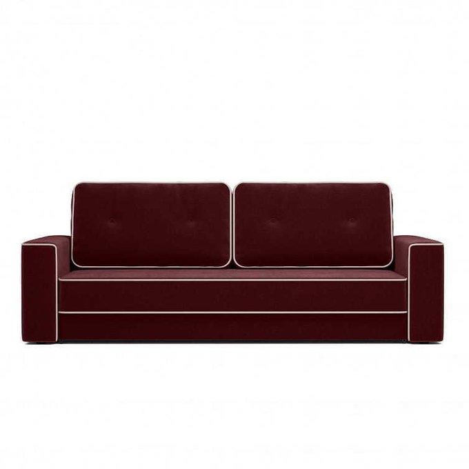 Диван-кровать Стаут бордового цвета