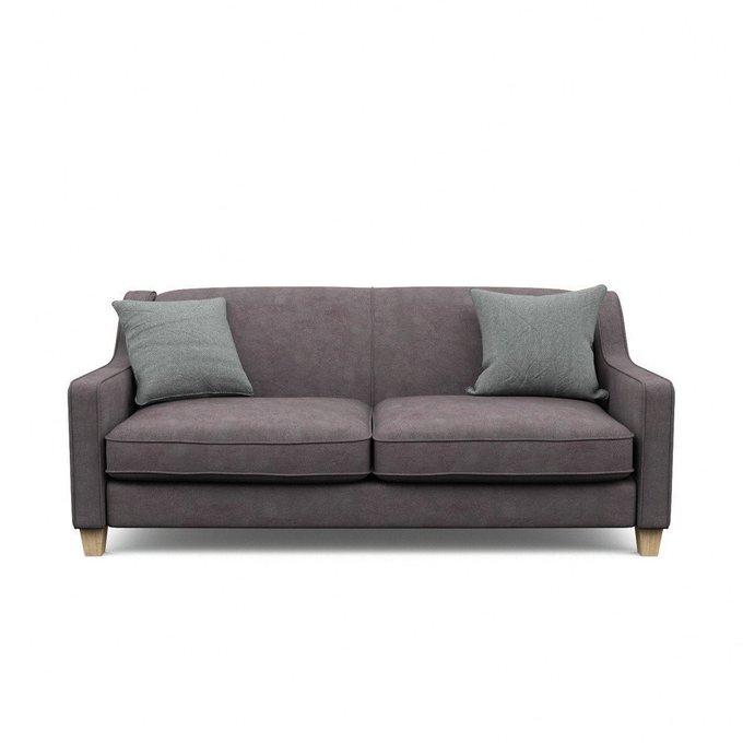Трехместный диван  Агата XL коричневого цвета