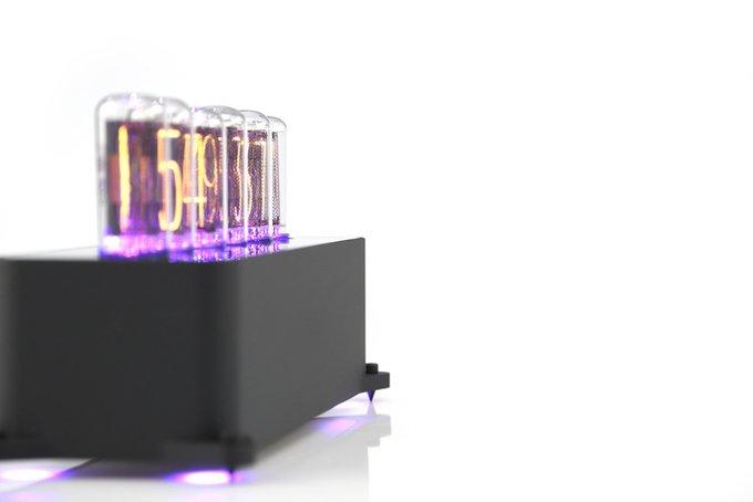 Ламповые часы VacuumGlow VENEZE Deep Black Graphite