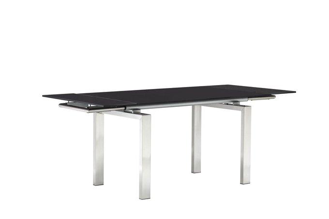 Стол раздвижной на металлическом каркасе со столешницей из закаленного стекла