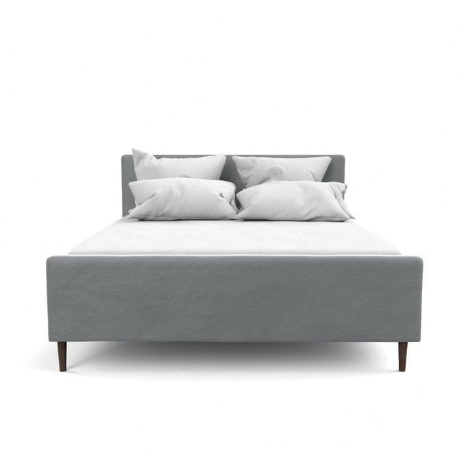 Двухспальная кровать Кристина серого цвета 160х200