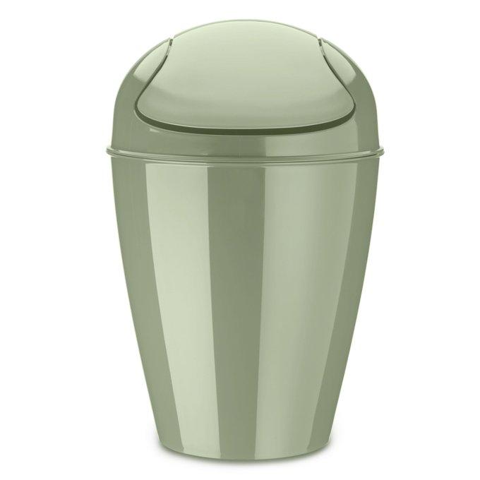 Корзина для мусора с крышкой Del m зеленого цвета