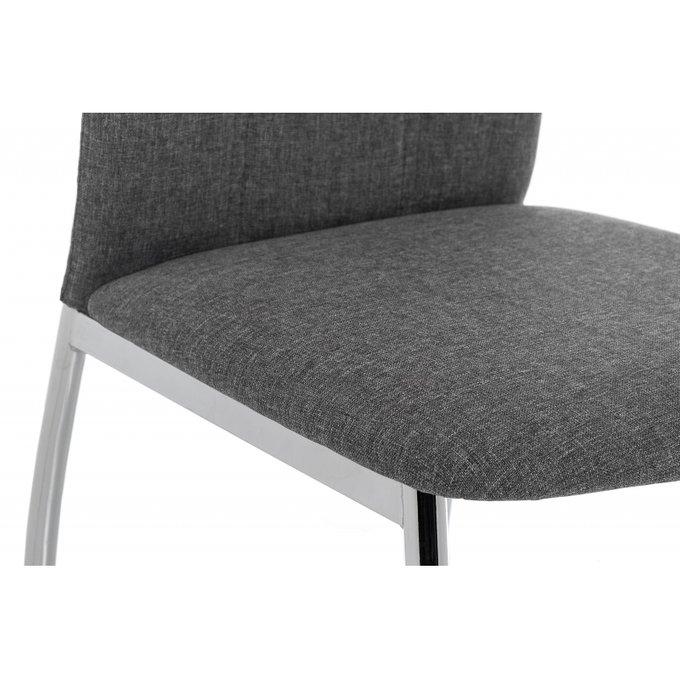 Стул Jenda fabric grey на металлическом каркасе с серой обивкой