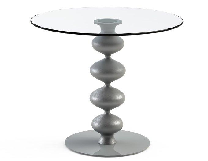 """Обеденный стол """"CRIADOR Silver"""" со столешницей из закаленного стекла"""