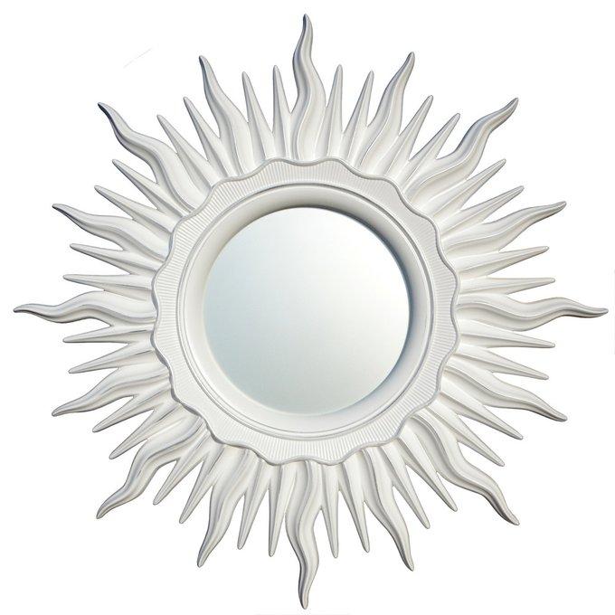 Зеркало Ринд Белое серебро