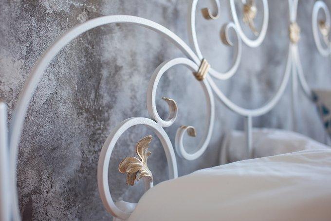 Кованая кровать Афина 1.8 с одной спинкой 180х200