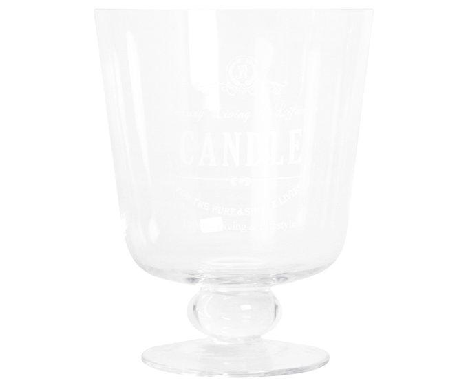 Подсвечник-бокал Candle из стекла