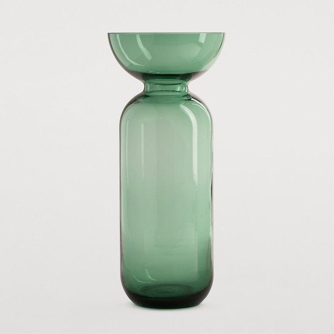 Ваза Oviedo L зеленого цвета