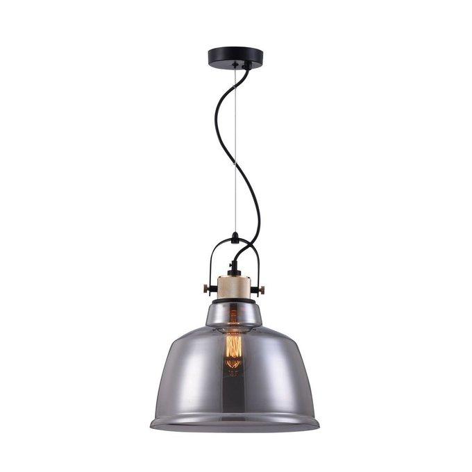 Подвесной светильник Irving с плафоном из стекла дымчатого цвета