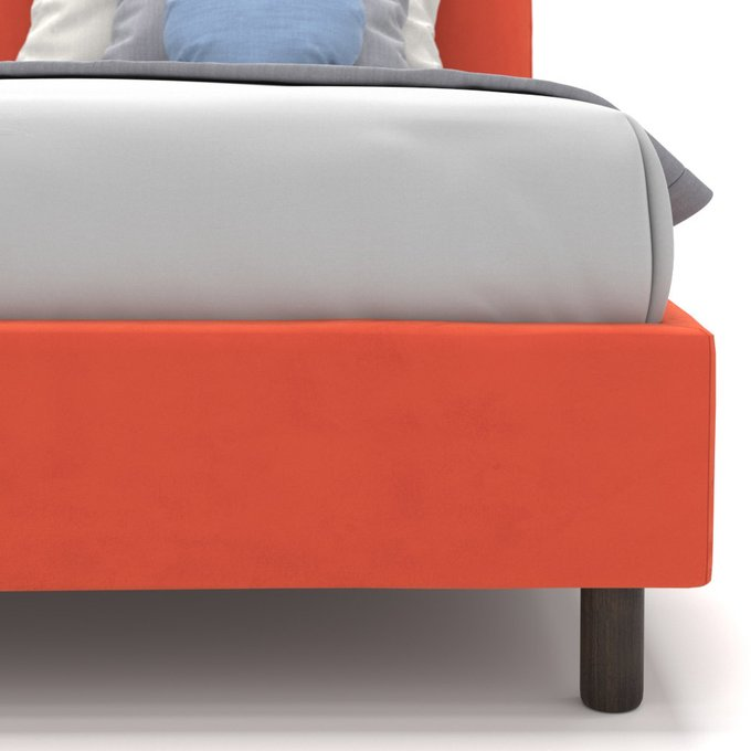 Односпальная кровать Alana на ножках красного цвета 120х200