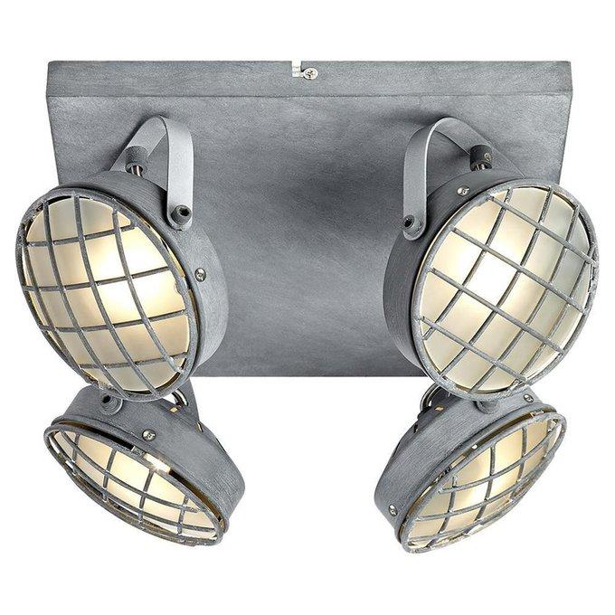 Спот Lussole Loft из металла и стекла