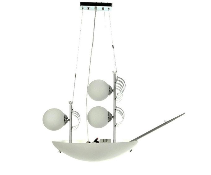 Подвесной светильник Яхта белого цвета