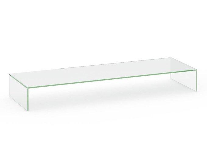 Полка стеклянная для тумб под ТВ