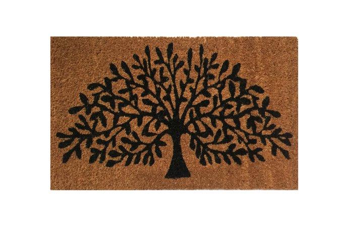 Придверный коврик коричневого цвета 35х60