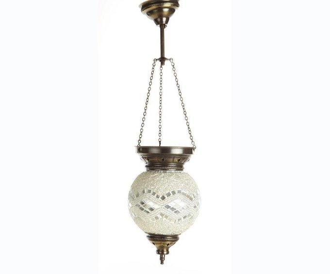 Подвесной светильник Марокко с белым плафоном