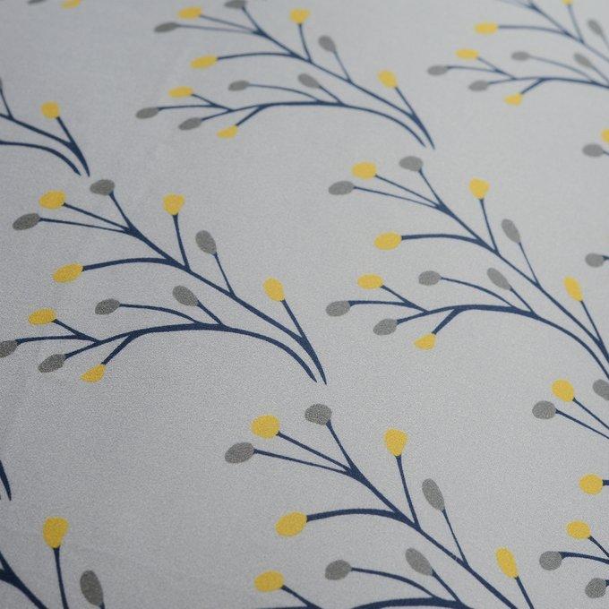 Двусторонний комплект постельного белья Essential из сатина с принтом соцветие 200х210
